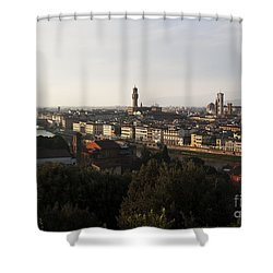 Florence Form The Piazza Michalengelo Shower Curtain by Belinda Greb