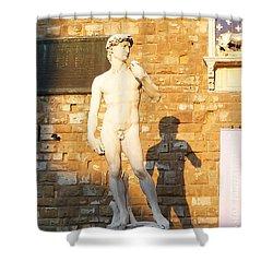 Florence Italy Michelangelo David Replica Shower Curtain by Irina Sztukowski