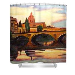 Florence Shower Curtain by Sheila Diemert