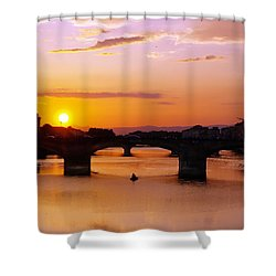 Florence Sunset  Shower Curtain