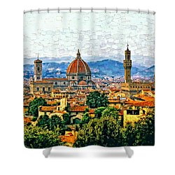 Florence Watercolor Shower Curtain by Steve Harrington
