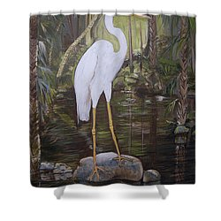 Florida Bird Shower Curtain