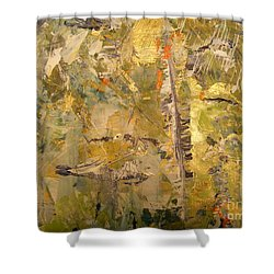 Shower Curtain featuring the painting Florida Feather by Nancy Kane Chapman