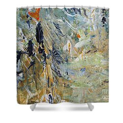 Shower Curtain featuring the painting Florida Flyaway by Nancy Kane Chapman