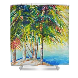 Florida Inspiration  Shower Curtain by Chrisann Ellis