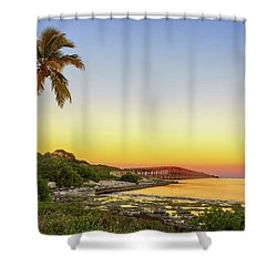 Florida Keys Sunset Shower Curtain by Swank Photography