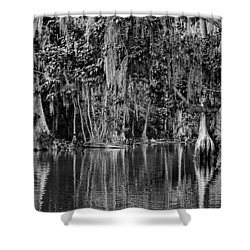 Florida Naturally 2 - Bw Shower Curtain