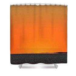 Florida Orange Shower Curtain by Faith Williams