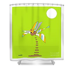 Florida Palm 1 Shower Curtain