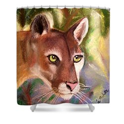 Florida Panther Shower Curtain by Renee Michelle Wenker