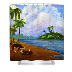 Florida Pasture Shower Curtain