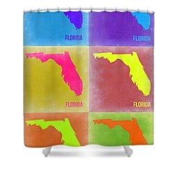 Florida Pop Art Map 2 Shower Curtain