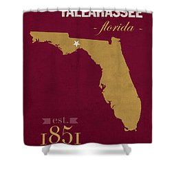 Florida State University Seminoles Tallahassee Florida Town State Map Poster Series No 039 Shower Curtain by Design Turnpike