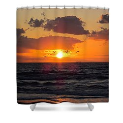 Florida Sunrise Shower Curtain by MTBobbins Photography