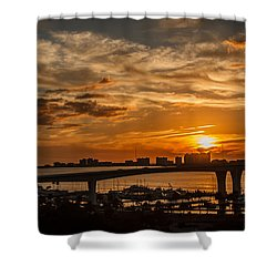 Shower Curtain featuring the photograph Florida Sunset by Jane Luxton