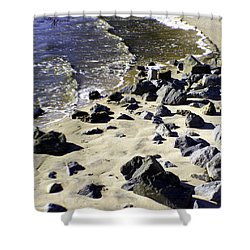 Florida Town Beach Shower Curtain