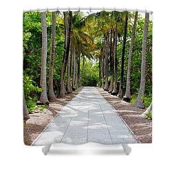 Florida Walkway Shower Curtain by Carey Chen