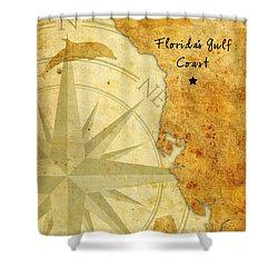 Florida's Gulf Coast Shower Curtain by Beverly Stapleton