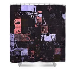 Florus Pokus 01e Shower Curtain by Variance Collections