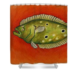 Flounder Shower Curtain