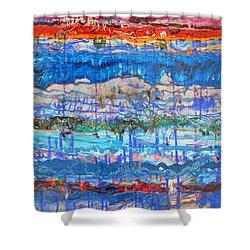 Flow Instability Shower Curtain by Regina Valluzzi