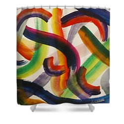 Shower Curtain featuring the painting Flow by Thomasina Durkay