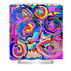 Abstract Art Painting #2 Shower Curtain by RjFxx at beautifullart com