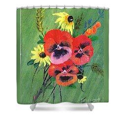 Flower Bunch Shower Curtain