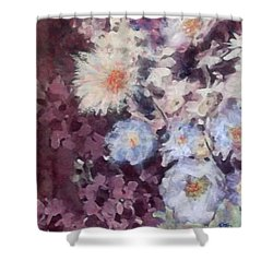 Shower Curtain featuring the painting Flower  Burst by Richard James Digance