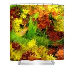 Flower Carnival Shower Curtain by Ayse and Deniz