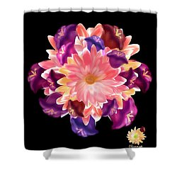 Flower Circle Shower Curtain