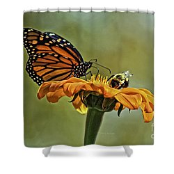 Flower Duet Shower Curtain