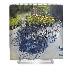 Flower Feast Shower Curtain by Karen Ilari