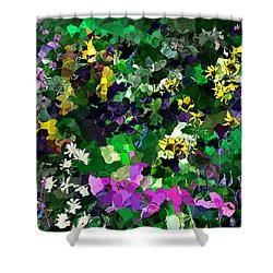 Flower Garden Shower Curtain by David Lane