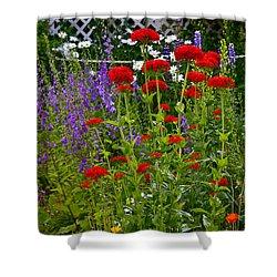 Flower Garden Shower Curtain by Johanna Bruwer