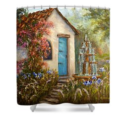 Flower Garden Paintings Shower Curtain
