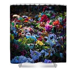 Flower Graveyard Shower Curtain