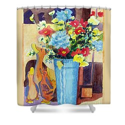 Flower In The Dell Shower Curtain by Kathy Braud