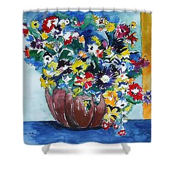 Flower Jubilee Shower Curtain by Esther Newman-Cohen
