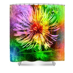 Shower Curtain featuring the digital art Flower Light by Nico Bielow