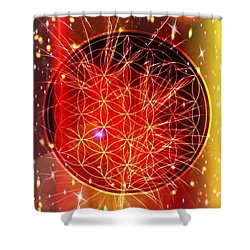 Flower Of Life  Shower Curtain