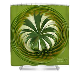 Flower Orbital II Shower Curtain