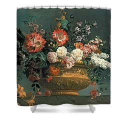Flower Piece With Parrot Shower Curtain