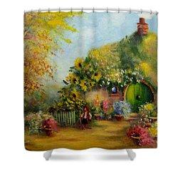 Flower Pots Hobbiton Shower Curtain by Joe  Gilronan