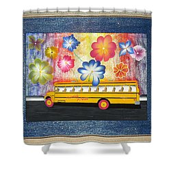 Shower Curtain featuring the painting Flower Power by Ron Davidson