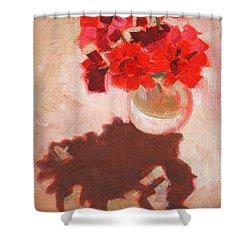 Flower Shadows Still Life Shower Curtain
