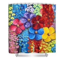 Flower Shower Shower Curtain