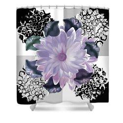 Flower Spreeze Shower Curtain by Christine Fournier
