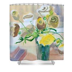 Flower Still Life          Shower Curtain by Kathy Braud