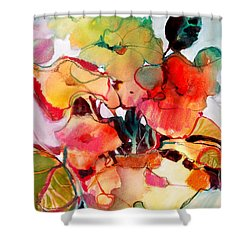 Shower Curtain featuring the painting Flower Vase No. 2 by Michelle Abrams